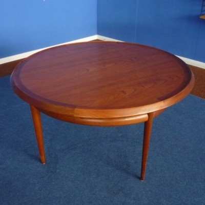 Teak Coffee Table by Torbjørn Afdal for Bruksbo, 1960s