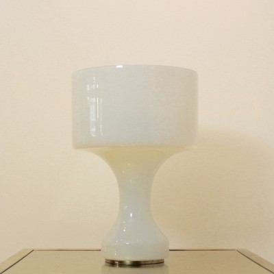 Snow White Venini Murano Glass Table Lamp