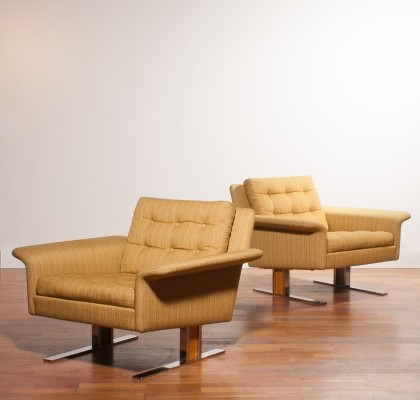 Set of 2 lounge chairs from the sixties by Johannes Andersen for Trensum