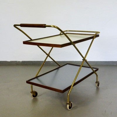Tea serving trolley from the sixties by unknown designer for Ilse Möbel