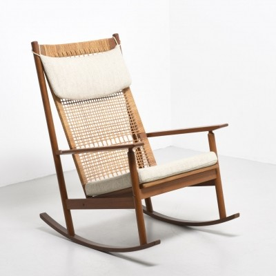 Rocking chair from the fifties by Hans Olsen for Juul Kristensen