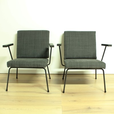 Set of 2 model 1407 arm chairs from the fifties by Wim Rietveld for Gispen
