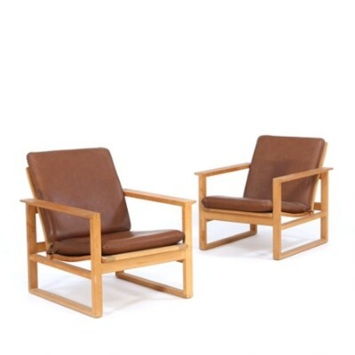 Set of 2 model 2256 lounge chairs from the fifties by Børge Mogensen for Fredericia Stolefabrik