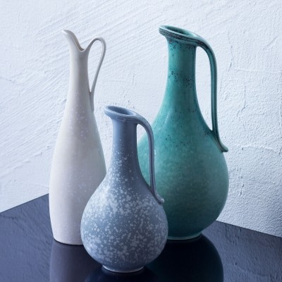 Set of 3 vases by Gunnar Nylund for Rörstrand, 1940s