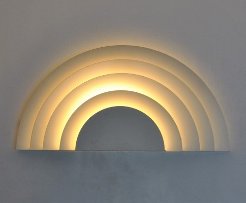 2 Meander wall lamps from the sixties by Cesare Casati & C. Emanuele Ponzio for Raak Amsterdam