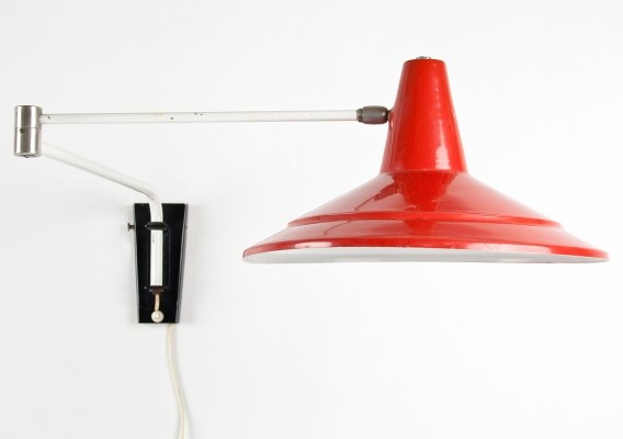 Wall lamp from the sixties by J. Hoogervorst for Anvia Almelo