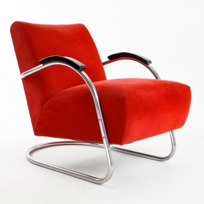 Bauhaus arm chair from the thirties by unknown designer for EMS Overschie