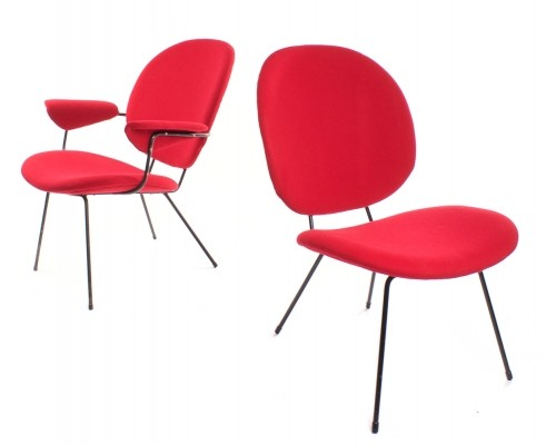 Set of 2 Model 302 lounge chairs from the fifties by W. Gispen for Kembo