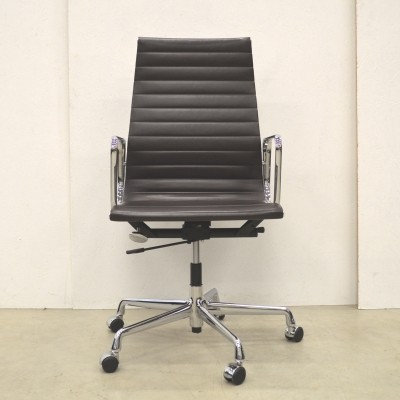 EA119 (Chocolat Brown) office chair from the nineties by Charles & Ray Eames for Vitra