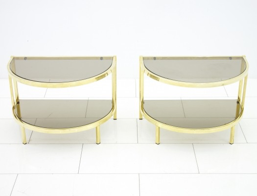 Set of 2 Bedside side tables from the seventies by unknown designer for unknown producer