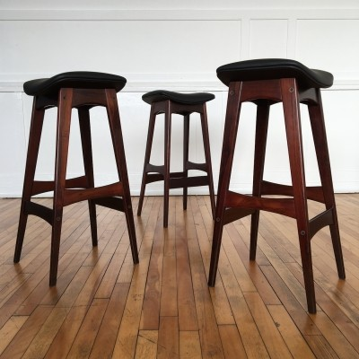 Set of 3 stools from the sixties by Johannes Andersen for Brdr. Andersen
