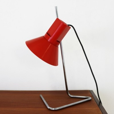 Harvey Guzzini red synthetic table desk lamp