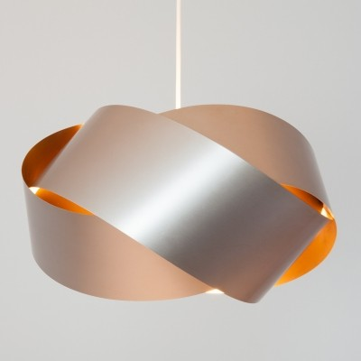 Endless Ribbon hanging lamp from the sixties by unknown designer for unknown producer