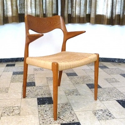 Model No. 55 arm chair from the fifties by Niels Otto Møller for J L Møller
