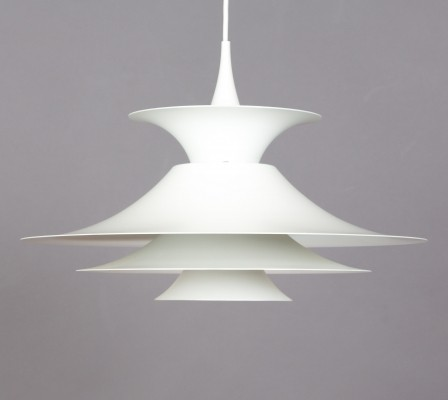 2 Radius hanging lamps from the sixties by Erik Balslev for Fog & Mørup