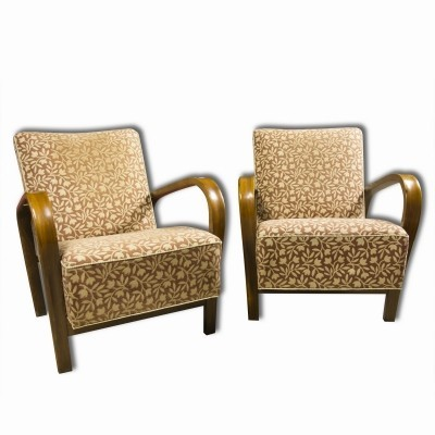 Pair of Jindřich Halabala arm chairs, 1930s