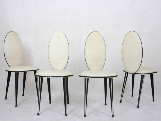 Set of 4 dinner chairs from the fifties by Umberto Mascagni for Mascagni