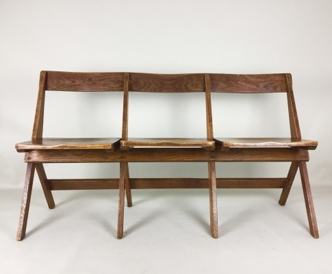 School bench from the thirties by unknown designer for unknown producer