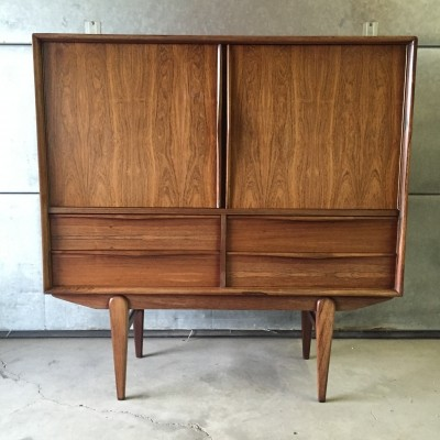 Rosewood cabinet from the fifties with drawers