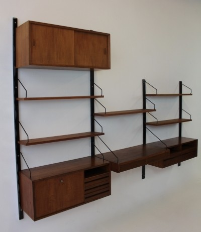 Royal System wall unit from the fifties by Poul Cadovius for Cado