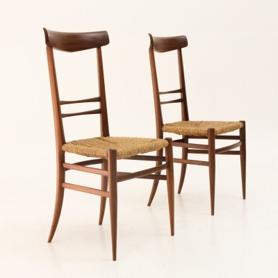 Set of 2 Chiavarine dinner chairs from the fifties by unknown designer for unknown producer