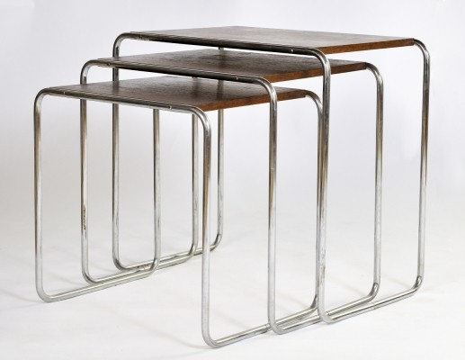 B 9 nesting table from the thirties by Marcel Breuer for Mücke Melder