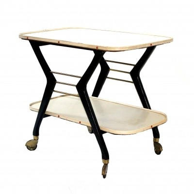 Model 552 serving trolley from the fifties by unknown designer for Ilse Möbel