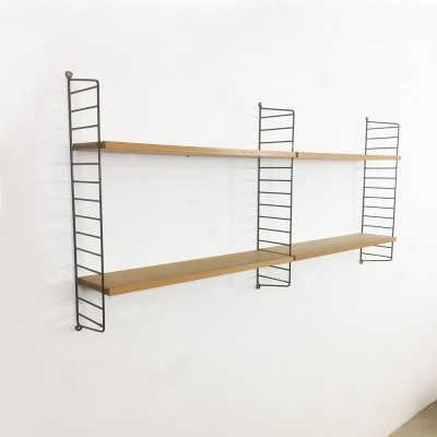 String oak wood wall unit from the sixties by Nisse Strinning for String Design AB