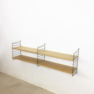 String ash wood wall unit from the seventies by Nisse Strinning for String Design AB