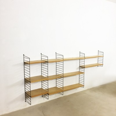 String ash wood wall unit from the sixties by Nisse Strinning for String Design AB