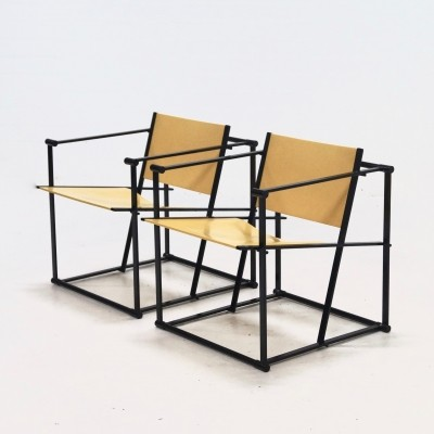 Pair of FM61 lounge chairs by Radboud van Beekum for Pastoe, 1980s