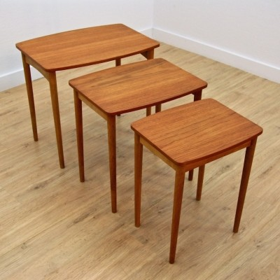 Nesting table from the sixties by unknown designer for unknown producer
