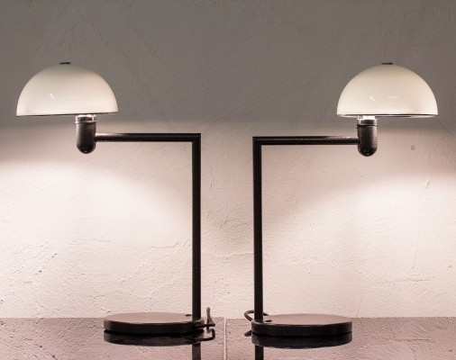 Set of 2 desk lamps from the eighties by Per Sundstedt for Zero