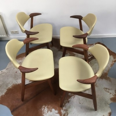 Set of 4 dinner chairs from the fifties by unknown designer for Hulmefa