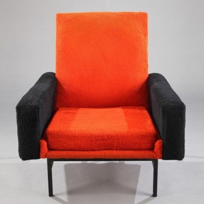 3 x model 642 arm chair by Atelier de Recherches Plastiques for Steiner Meubles, 1960s