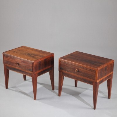 Set of 2 side tables from the sixties by Henry Rosengreen Hansen for unknown producer