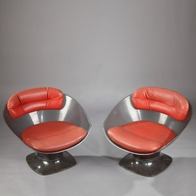 Set of 2 lounge chairs from the sixties by Raphael Raffel for unknown producer