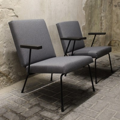 Set of 2 Model 415/1401 & Model 415/1407 lounge chairs from the fifties by Wim Rietveld & André Cordemeyer for Gispen