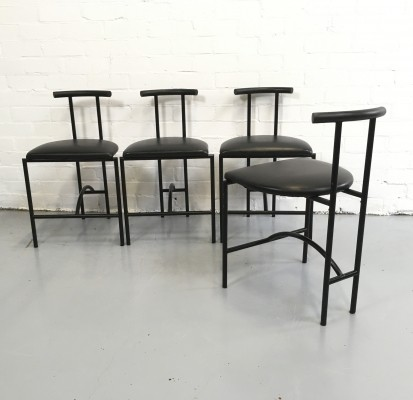 Set of 4 Tokyo dinner chairs from the eighties by Rodney Kinsman for Bieffeplast