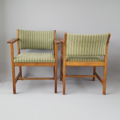Pair of BM73 arm chairs by Børge Mogensen for Fredericia Stolefabrik, 1970s