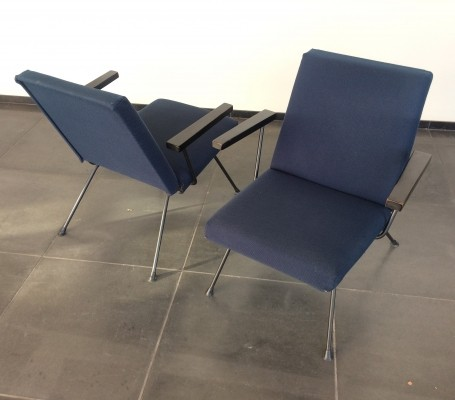 2 Model 1409 arm chairs from the fifties by André Cordemeyer for Gispen