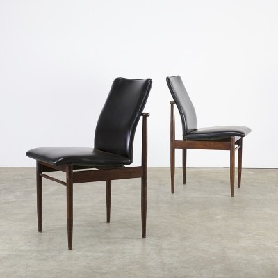Set of 2 dinner chairs from the sixties by unknown designer for Fristho