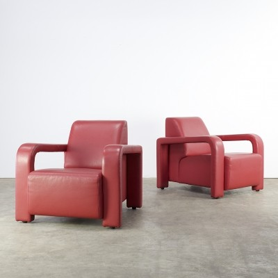 Set of 2 lounge chairs from the eighties by unknown designer for Marinelli Italy