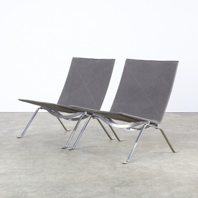 Set of 2 PK22 lounge chairs from the fifties by Poul Kjærholm for Fritz Hansen