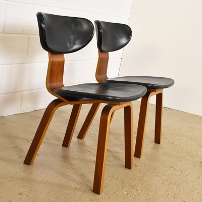 Set of 2 SB37 dinner chairs from the fifties by Cees Braakman for Pastoe