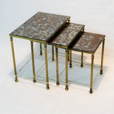 Nesting table from the forties by unknown designer for unknown producer