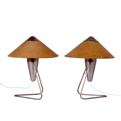 Pair of Helena Frantova desk lamps, 1950s