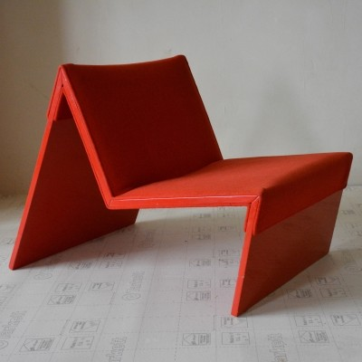 2 x SZ10 M Chair lounge chair by Hans Ebbing & Ton Haas for Artifort, 1980s
