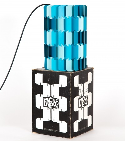 Pop-facet hanging lamp from the seventies by Louis Weisdorf for Lyfa