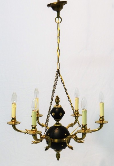 Swin cop chandelier hanging lamp from the forties by unknown designer for unknown producer